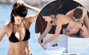 Adriana Lima Relaxes NUDE With Boyfriend on Beach