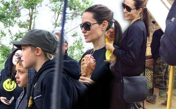 Angelina Jolie Looking MISERABLE On Outing With Kids!
