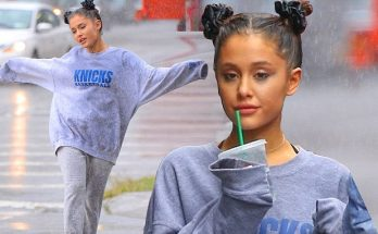 Ariana Grande Gets Drenched IN A RAINSTORM!