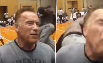 Arnold Schwarzenegger KICKED IN THE BACK in South Africa!