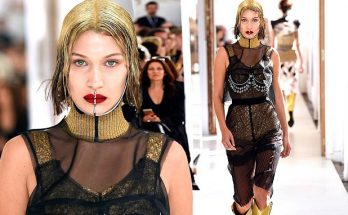 Bella Hadid is a METALLIC WOMAN at 'Maison Margiela' Show in Paris
