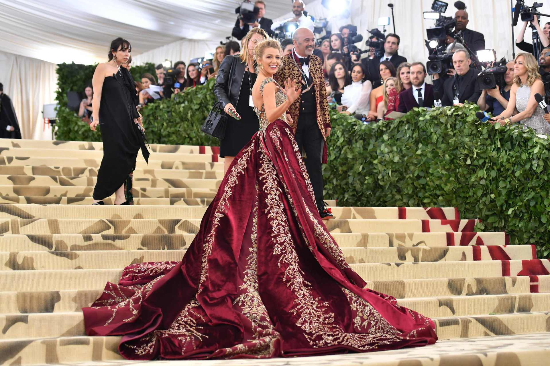 OVER THE TOP: Blake Lively Wears 'FAVORITE DRESS' and $2 MILLION JEWELS to Met Gala 2018