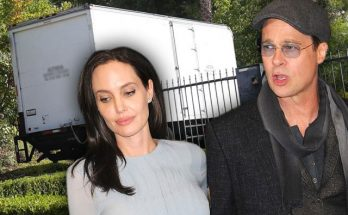 Moving Trucks Seen at Brad Pitt and Angelina Jolie's Mansion!