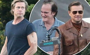 Brad Pitt and Leonardo DiCaprio Film 'Once Upon a Time in Hollywood'