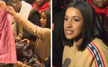 CARDI B Donates Winter Coats to Fans in New York!