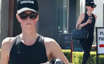 Charlize Theron Wears Abusive Hat to Work Out