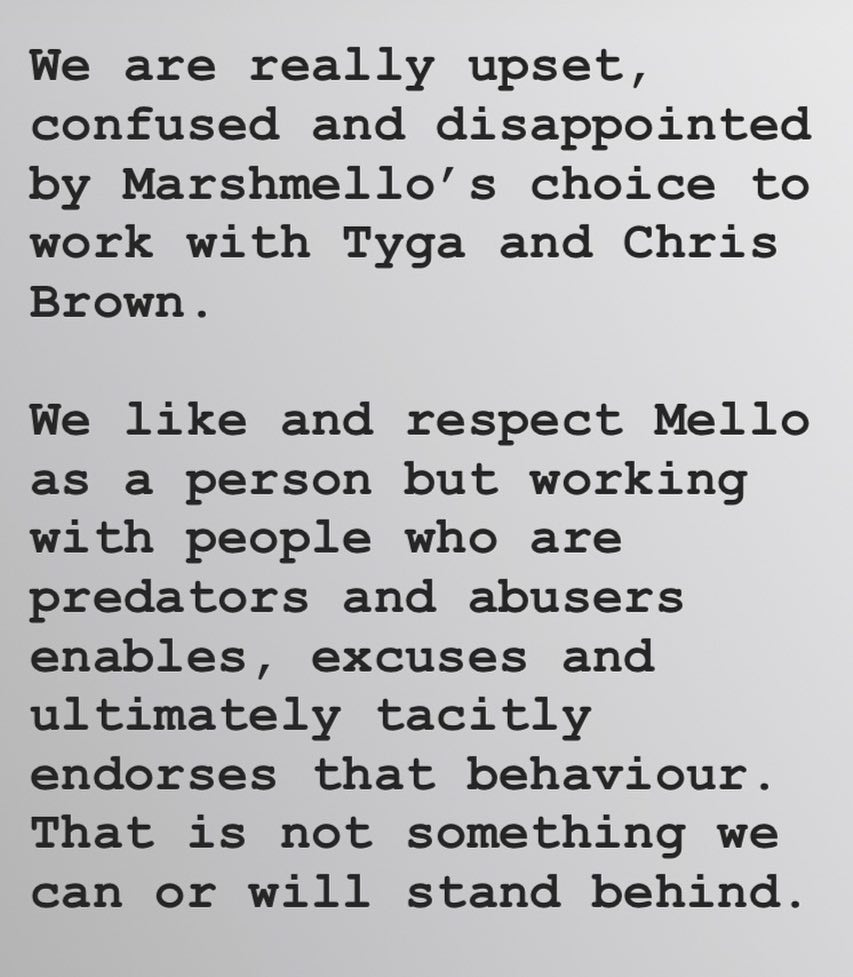 Racist Scottish Band CHVRCHES SLAMMED For Hateful Messages They Posted About Tyga and Chris Brown