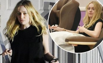 Dakota Fanning Sips a Tall-One While Walking Boyfriend