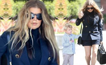 Fergie Attends Easter Church Service in a Black MINISkirt!