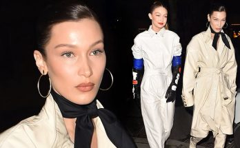 Gigi and Bella Hadid Wear Sanitary GLOVES to Louis Vuitton Party