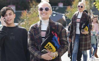 Gwen Stefani Goes to Church in RED STILETTOS!