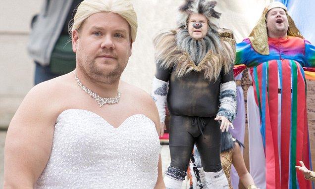 James Corden Wears a Wedding Dress, JUST LIKE Meghan Markle!