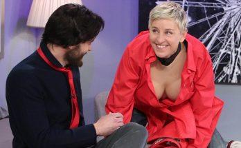 Ellen DeGeneres Spoofs 'Fifty Shades of Grey' With Jamie Dornan
