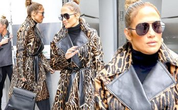 Call PETA! Jennifer Lopez Wears a LEOPARD in NYC!