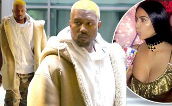 Kanye West Reveals NEON PINK Hair!