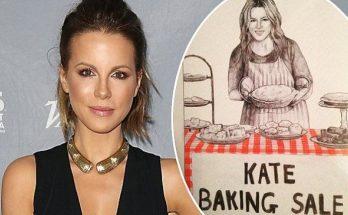 Kate BAKING SALE HAHAHAHA: Actress Kate Beckinsale Pokes Fun @ Herself