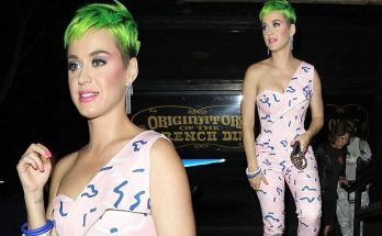 Katy Perry Sports Bright New GREEN Hair