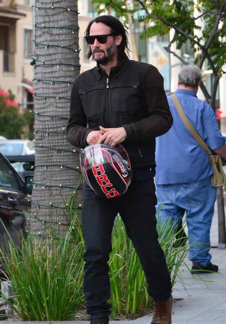 Keanu Reeves Rides a MOTORCYCLE! VROOM VROOM