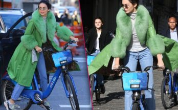 Kendall Jenner Celebrates 23rd Birthday Riding a Bike in NYC