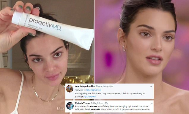 Kendall Jenner is the New Face of PROACTIV and People Hate It!