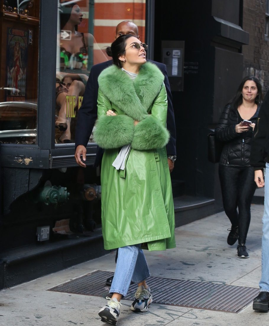 Kendall Jenner Celebrates 23rd Birthday Riding a Bike in NYC image
