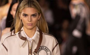 Kendall Jenner Goes BLONDE For Burberry Runway Show