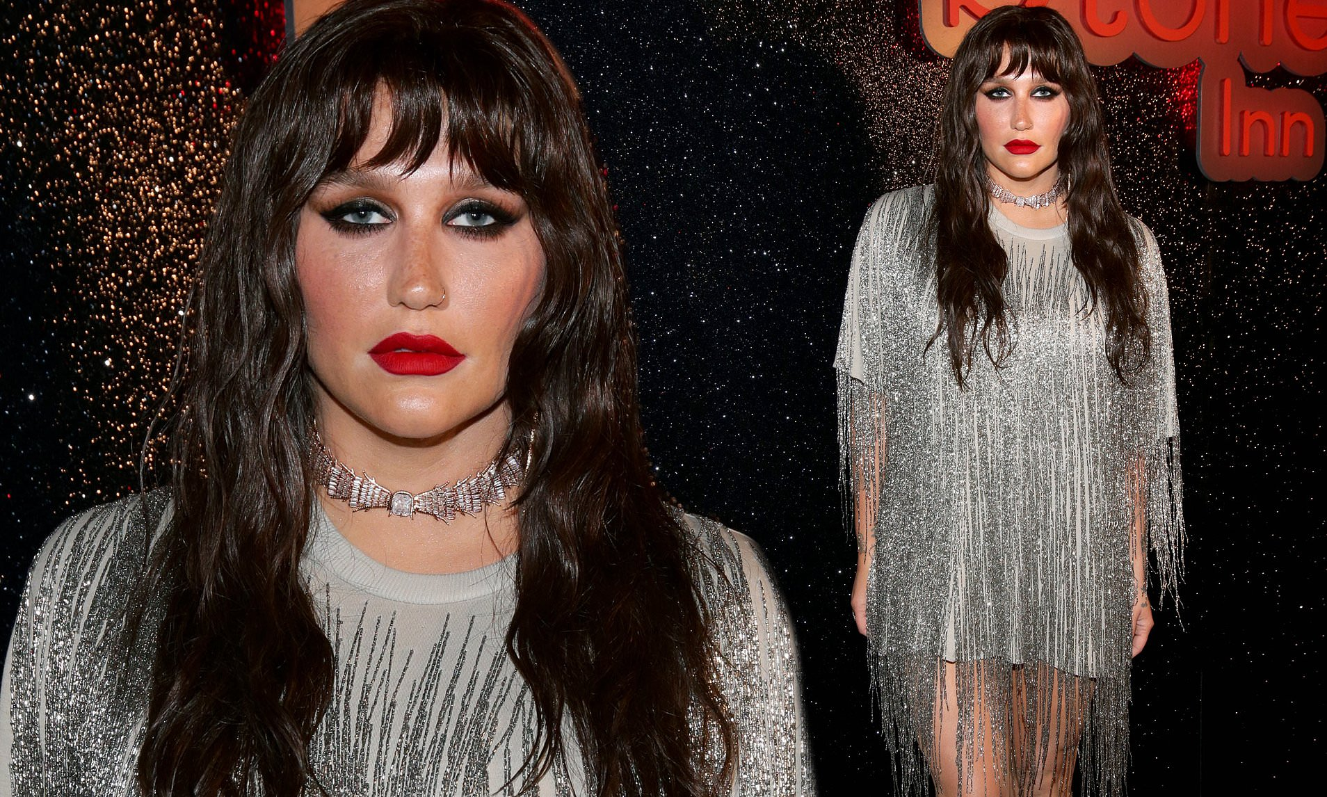 Kesha Goes BRUNETTE, Looks Completely Unrecognizable!