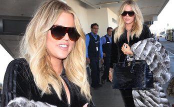 Khloe Kardashian Leaves Los Angeles Before NYE, Covers Baby Bump!