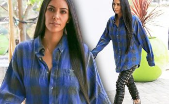 Kim Kardashian Steps Out With a Checkered Past & Lip Ring!