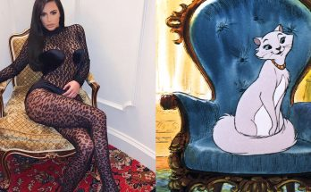 Kim Kardashian Wears a SEE-THROUGH CAT-SUIT!
