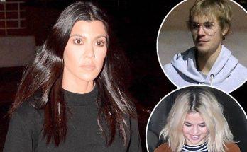 Kourtney Kardashian Wears ALL BLACK to Church W/ Justin Bieber & Khloe