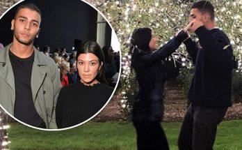 Kourtney Kardashian Embraces Boyfriend Younes Bendjima Under the MOON!