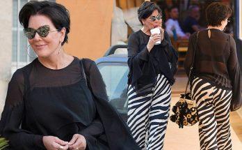 Kris Jenner is a ZEBRA-PRINT Woman in St Tropez!