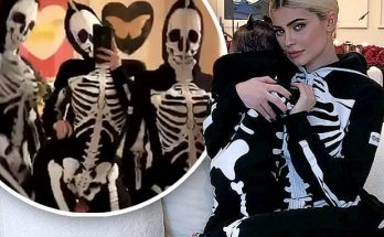 Kylie Jenner and Daughter STORMI Dress Up As Skeletons For Halloween