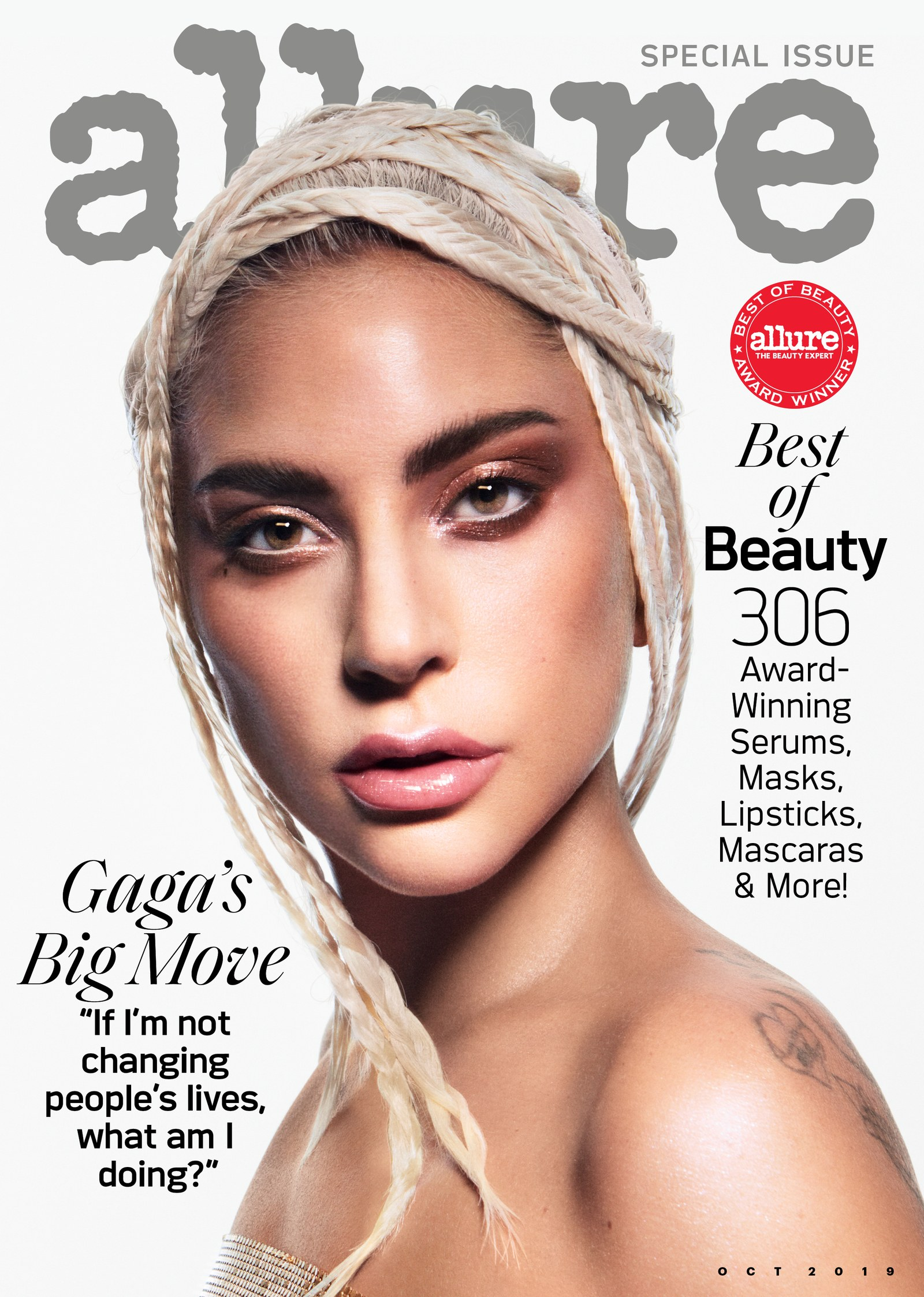 Lady Gaga Covers'Allure,' Says That Makeup CHANGED HER LIFE!