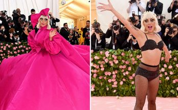 Lady Gaga Performs a STRIPTEASE on the Met Gala Red Carpet!