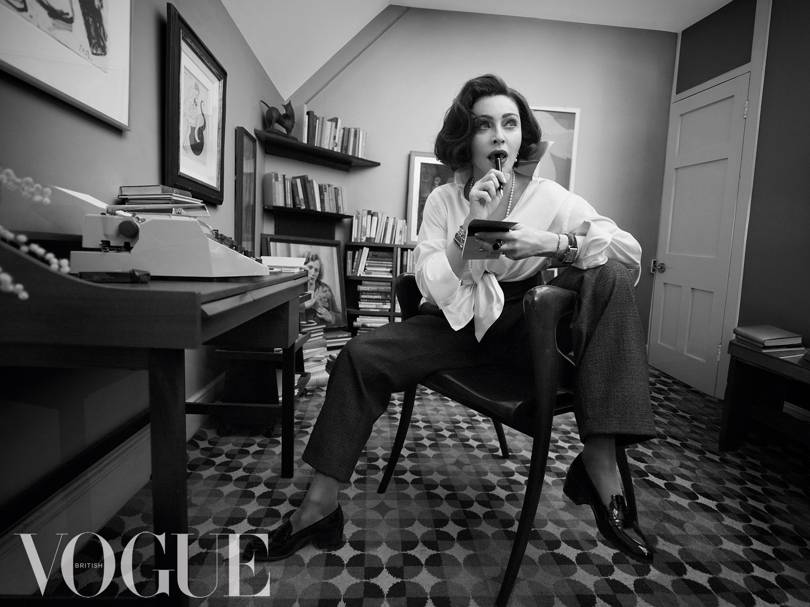 Madonna Covers BRITISH Vogue and Says She Has NO LIVING Role Models!
