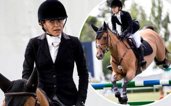 Mary-Kate Olsen RIDES A HORSE in Spain For Equestrian Competition!