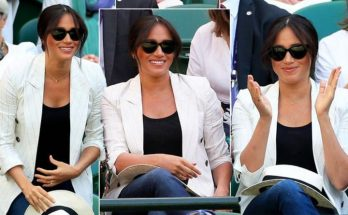 Meghan Markle Cheers on SERENA WILLIAMS at Wimbledon