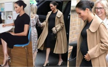 Meghan Markle Wears Her First Maternity Dress During Pregnancy