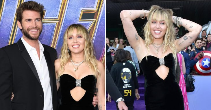 Miley Cyrus Has WET and Moppy Hair at 'Avengers: ENDGAME' World Premiere With Liam Hemsworth