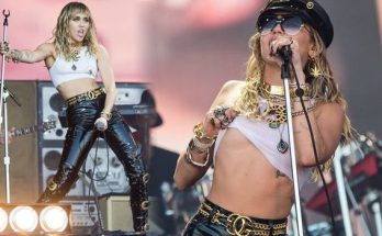 Miley Cyrus Put on a RAUNCHY Performance While Dad Billy Ray Just Watched During Glastonbury
