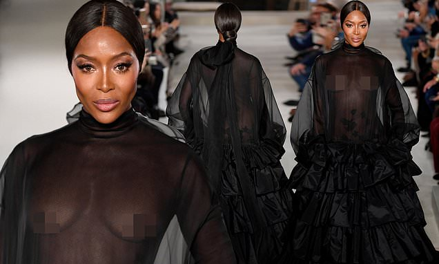 Naomi Campbell Goes NUDE on Valentino's Runway After 14 Years