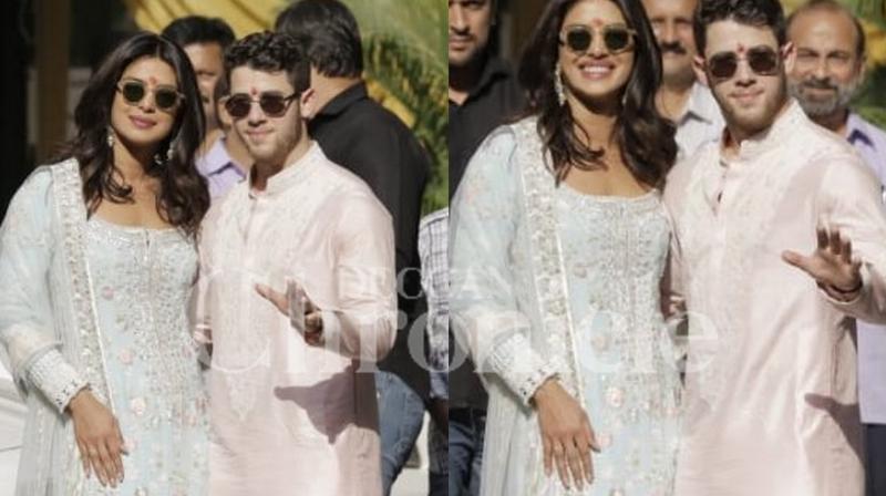Priyanka Chopra and Nick Jonas Begin PUJA Ceremony in India!