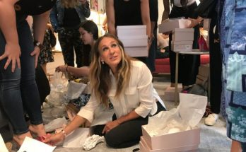 Sarah Jessica Parker Puts Shoes on Women During Opening of SJP SHOE SHOP!