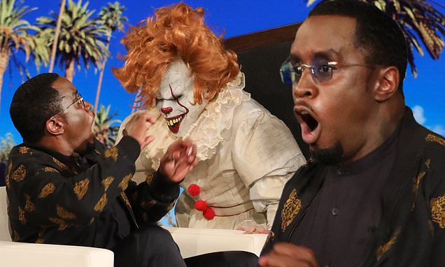 Sean DIDDY Combs Gets Freaked Out by Clowns on 'The Ellen DeGeneres Show' image