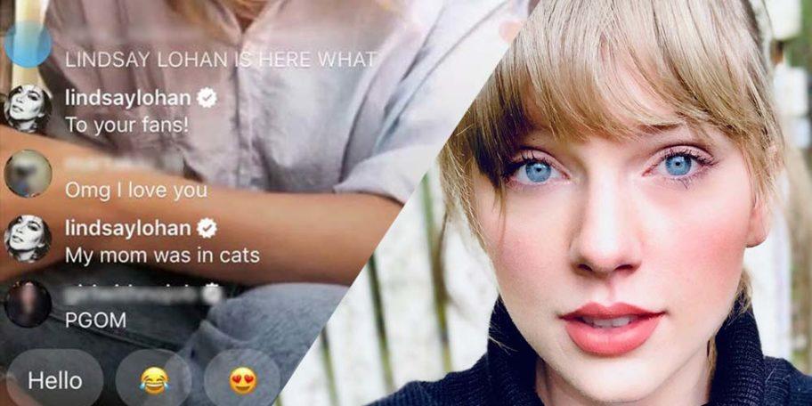 Lindsay Lohan OBSESSES Over Taylor Swift on Instagram Live!