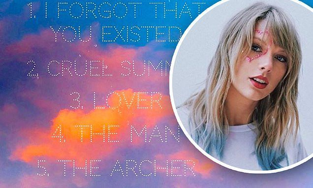 Taylor Swift Reveals Track Listing For LOVER!