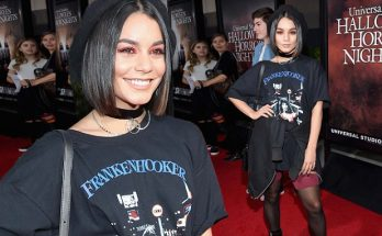 Vanessa Hudgens Channels Her Inner GOTH at Universal Studios' 'Halloween'