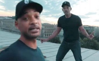 WILL SMITH Walks Along a Bridge for Drake's 'In My Feelings' Challenge!